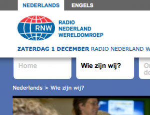 Corporate website van de Wereldomroep