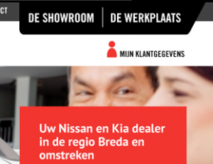 Website voor Nissan en Kia dealer